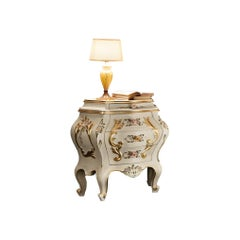 21st Century Four Drawer Baroque Bedside Table by Modenese Gastone
