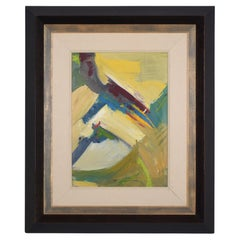21st Century Framed Contemporary Abstract Acrylic Wall Painting