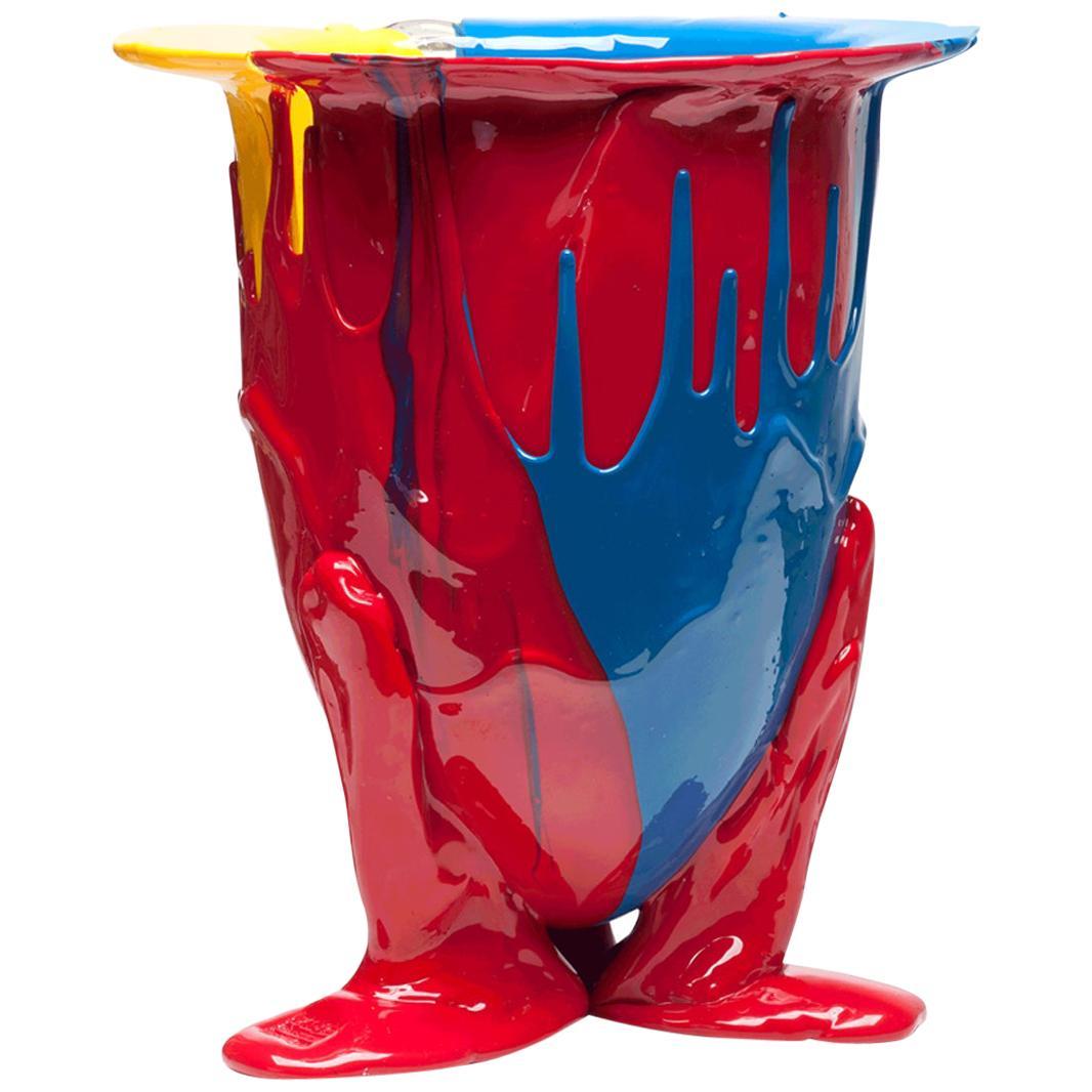 21st Century Gaetano Pesce Amazonia L Vase Resin Blue Red Yellow