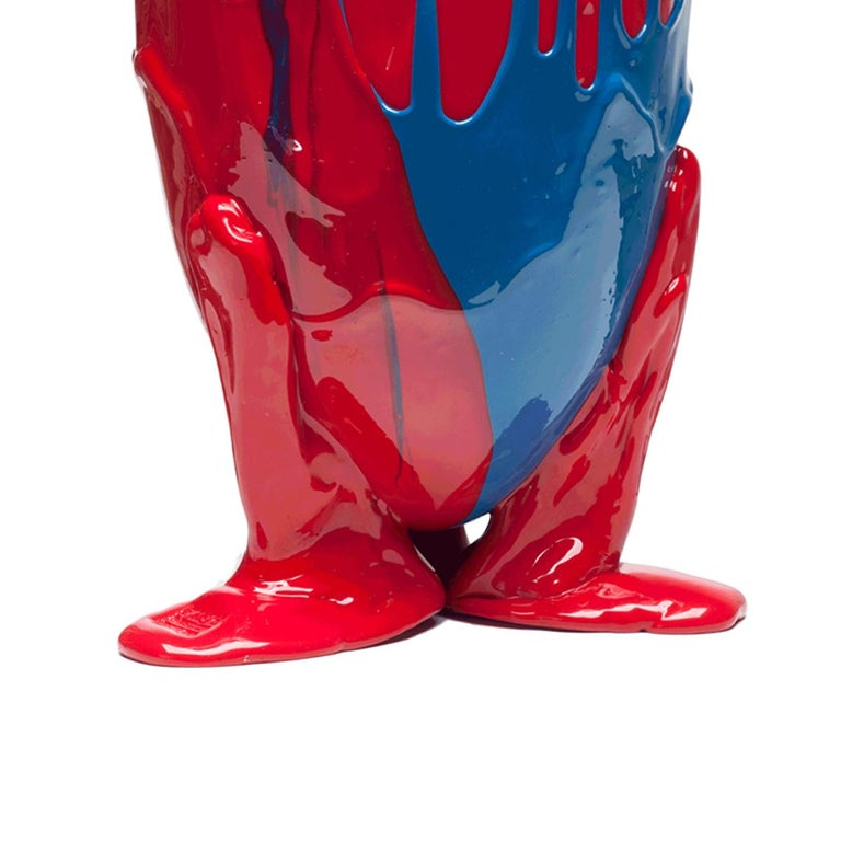 Arts and Crafts 21st Century Gaetano Pesce Amazonia Vase XL Resin Blue Red Yellow For Sale