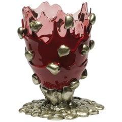 21st Century Gaetano Pesce Nugget L Vase Resin Pink Cherry Bronze