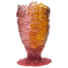 21st Century Gaetano Pesce Spaghetti XL Vase Resin Pink Amber Fuchsia