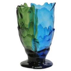 21st Century Gaetano Pesce Twins C-Vase Resin Green Blue