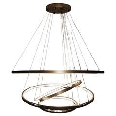 21st Century Gateway Suspension Lamp Brass Stainless Steel