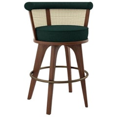 21st Century George Bar Chair Walnut Wood