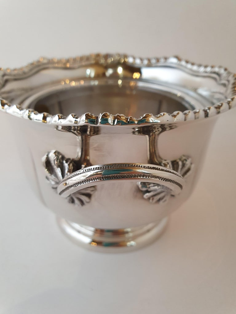21st Century Georgian Style Hand-Crafted Sterling Silver Jam Jar, Italy, 2007 For Sale 2
