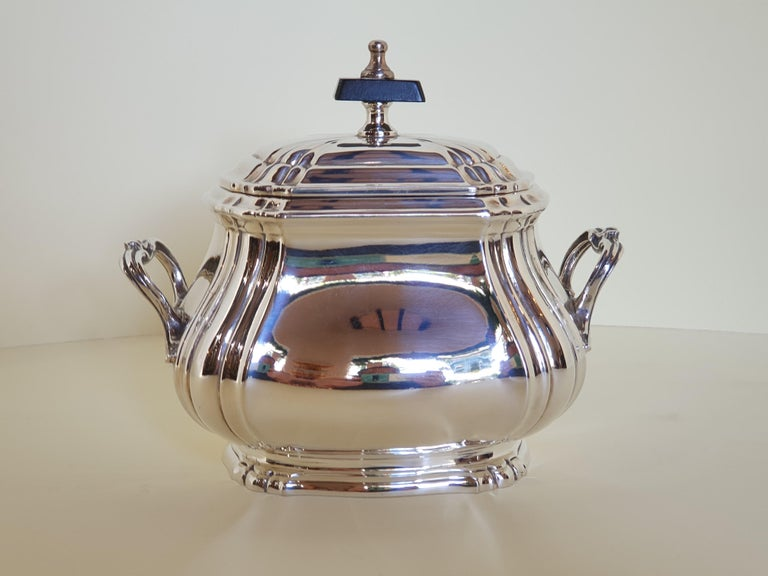 21st Century Georgian Style Sterling Silver Coffee and Tea Set, Italy, 2006 In New Condition For Sale In Cagliari, IT