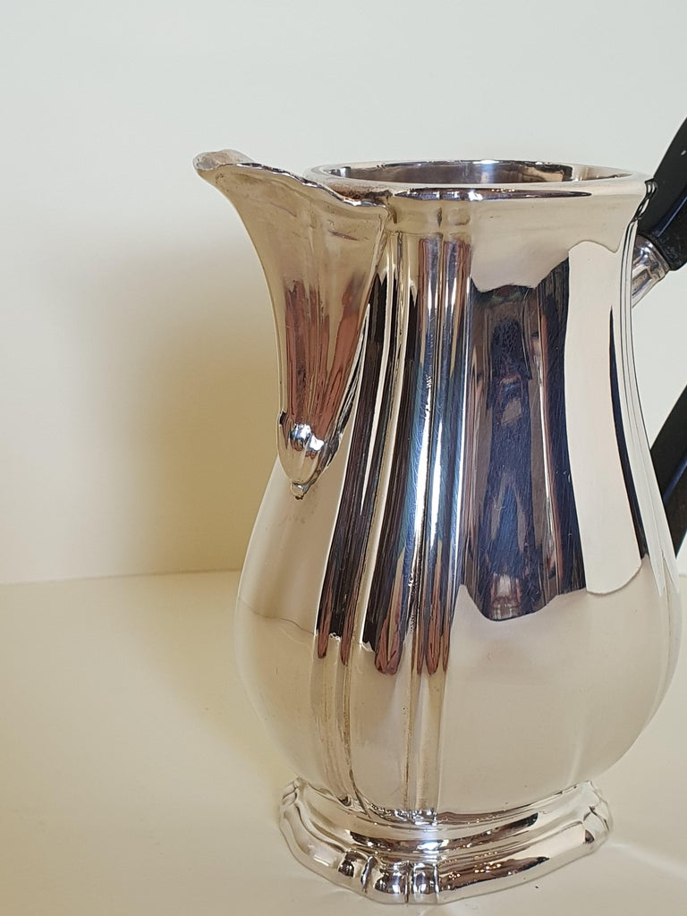 Contemporary 21st Century Georgian Style Sterling Silver Coffee and Tea Set, Italy, 2006 For Sale