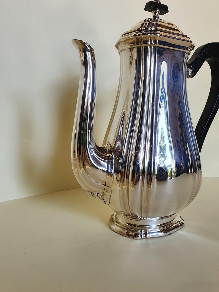 21st Century Georgian Style Sterling Silver Coffee and Tea Set, Italy, 2006 For Sale 1