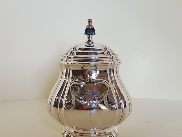 21st Century Georgian Style Sterling Silver Coffee and Tea Set, Italy, 2006 For Sale 2