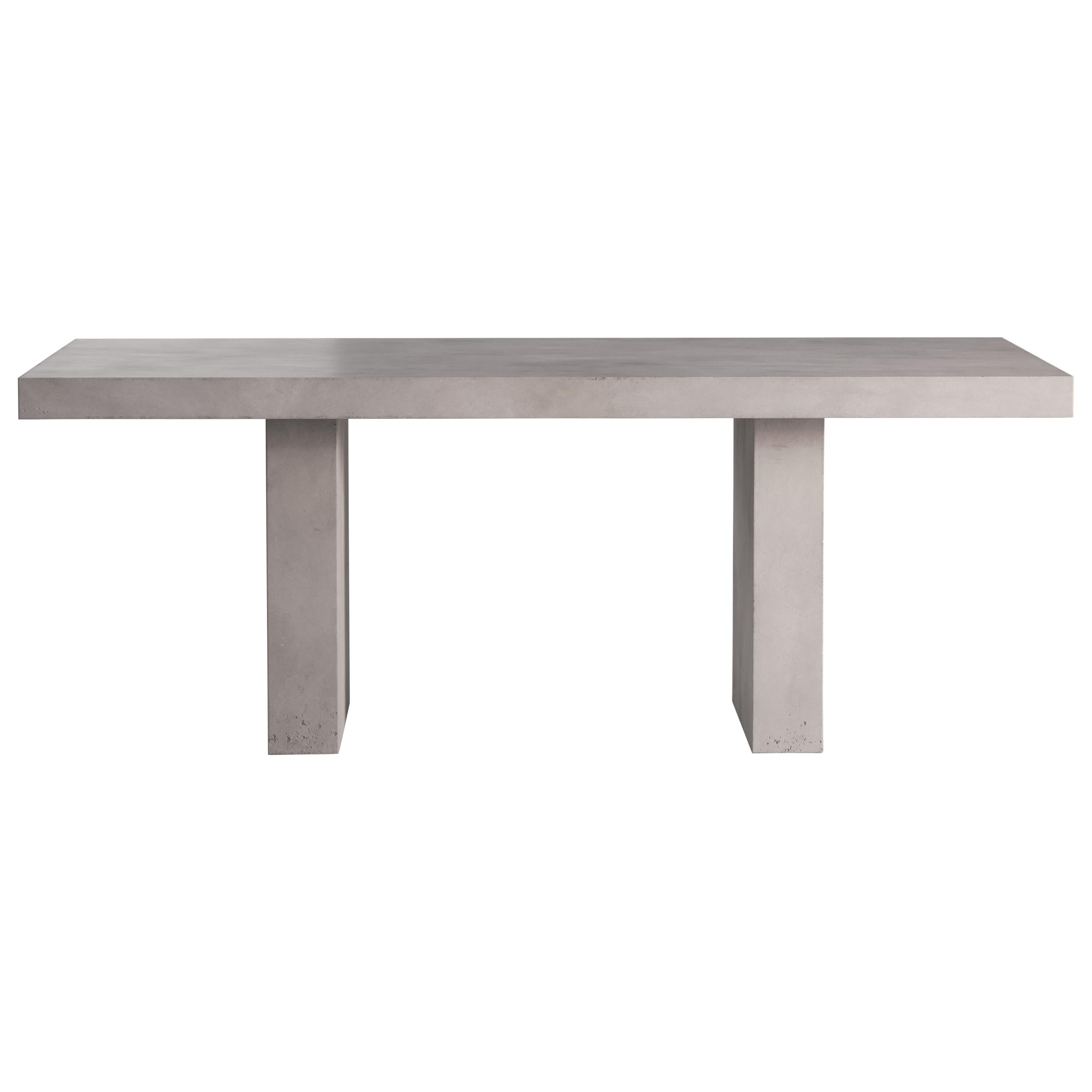 21st Century Giorgione 200, Concrete Dining Table, 100% Handcrafted in Italy