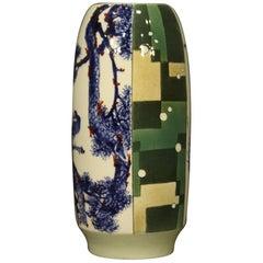 21st Century Glazed and Painted Ceramic Chinese Vase, 2000