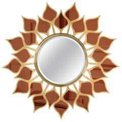 21st Century Goa Mirror Bronze Mirror Petals