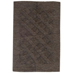 21st Century Goat Hair Taurus Collection Rug in Shades of Brown