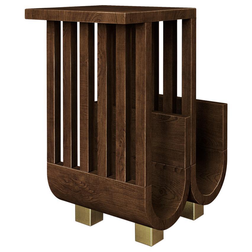 21st Century Goschen Side Table Walnut Wood