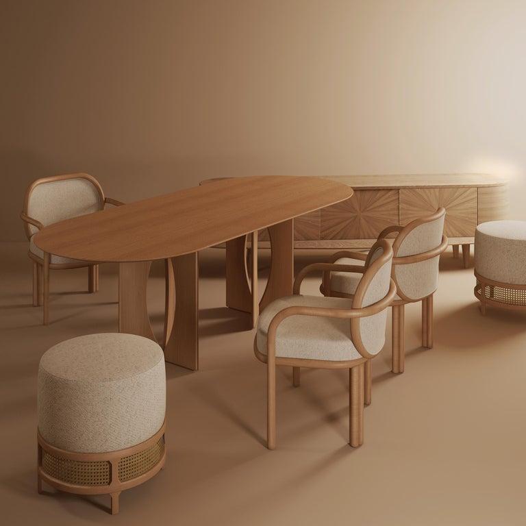 Varnished 21st Century Grant Sideboard Walnut Wood For Sale
