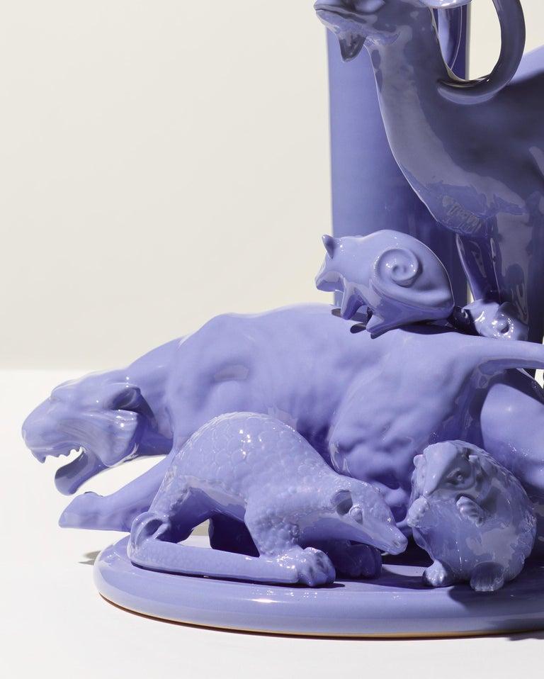 Italian 21st Century Grey Blue Sculpture by Ceramica Gatti, designer A. Anastasio For Sale