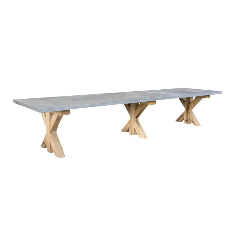 European 21st Century Grey Hoven Table For Sale