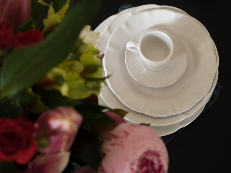 21st Century Ceramic Soup Plate White Handmade In New Condition For Sale In Milan, IT