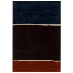 21st Century Hand-Tufted Rug by Diana Sawicki in Blue, Brown, Gray, and Orange