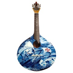 21st Century Handmade and Painted Adamastor Portuguese Guitar