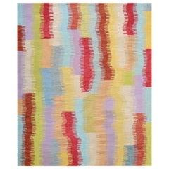 21st Century Handwoven Anatolian Multi-Color Vintage Wool Kilim