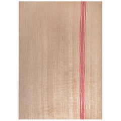 21st Century Handwoven Jute Carpet Rug in Natural Color with Pink Stripes