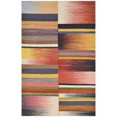 21st Century Handwoven Strong Colorful Mazandaran Kilim Carpet