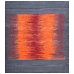21st Century Handwoven Strong Colors Mazandaran Kilim Carpet