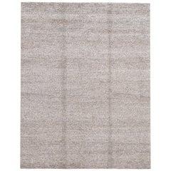 21st Century Handwoven Texture Wool Rug