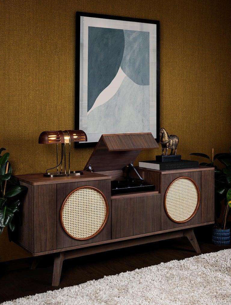 Portuguese 21st Century Harrison Sideboard Walnut Wood For Sale