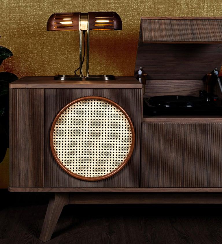 Varnished 21st Century Harrison Sideboard Walnut Wood For Sale
