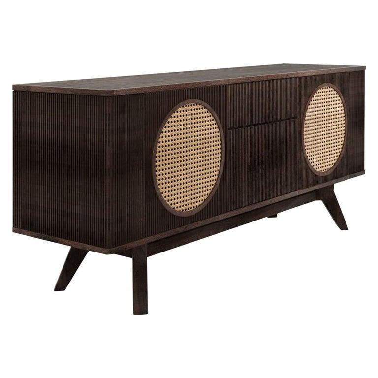 21st Century Harrison Sideboard Walnut Wood For Sale
