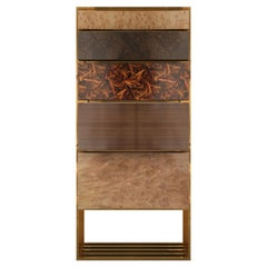 21st Century Hollow Chest of Drawers Multiple Woods