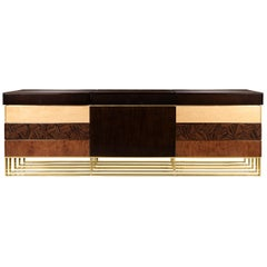 21st Century Hollow Sideboard Multiple Woods