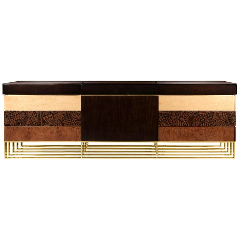 21st Century Hollow Sideboard Multiple Woods For Sale
