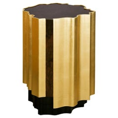 21st Century Horizon Side Table Wood Gold Leaf
