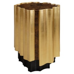 21st Century Horizon Side Table Wood Gold Leaf