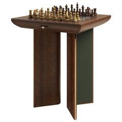 21st Century Howard Chess Table Walnut Wood
