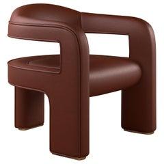 21st Century Three Legged Chair Hudson Armchair Genuine Leather