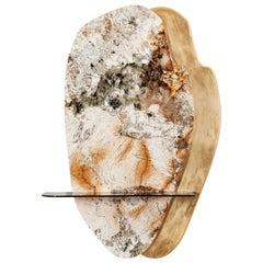 Ignis Decorative Wall Art Piece Patagonia Granite Gold Leaf Gilding Bronze Glass