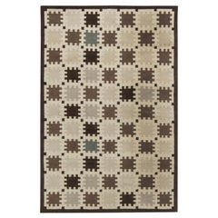 21st Century Indoor Outdoor Scandinavian Design Flat-Weave Rug