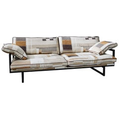 21st Century Industrial Style Ristretto Frame & Upholstered 'BRAD' S10 Sofa