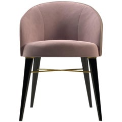 21st Century Ingrid Dining Chair Cotton Velvet Beechwood