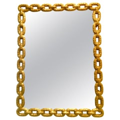 21st Century Iron Gold Rope Motif Powder-Coated Mirror's