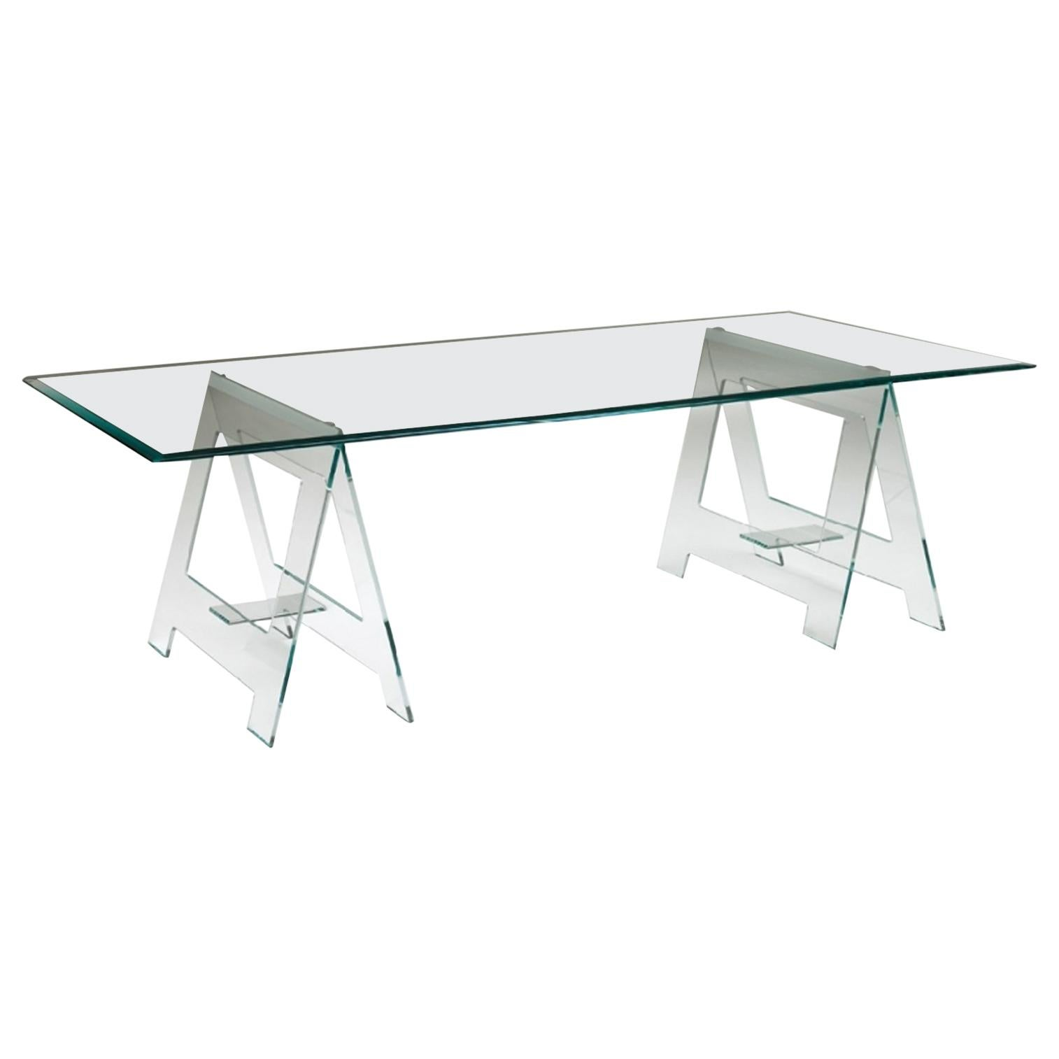 21st Century Italian Modern Design Desk or Dining Table with Easels