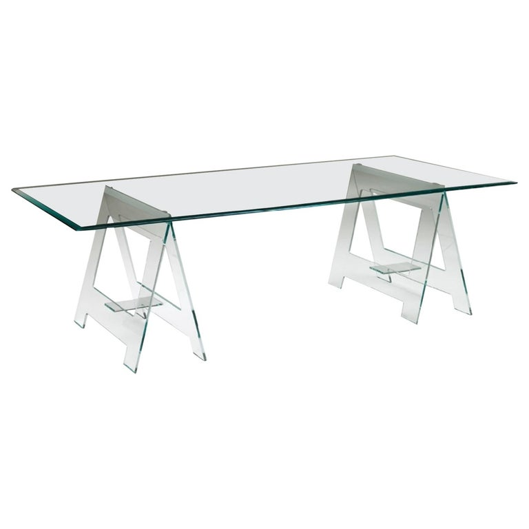 21st Century Italian Modern Design Desk or Dining Table with Easels For Sale