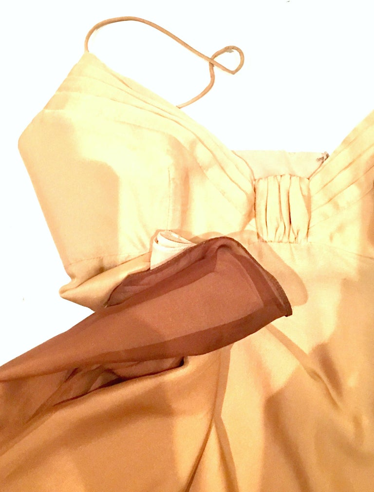21st Century Italian Silk Chiffon Slip Dress By Girogio Armani - Size 42 For Sale 5