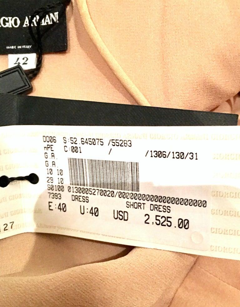 21st Century Italian Silk Chiffon Slip Dress By Girogio Armani - Size 42 For Sale 8