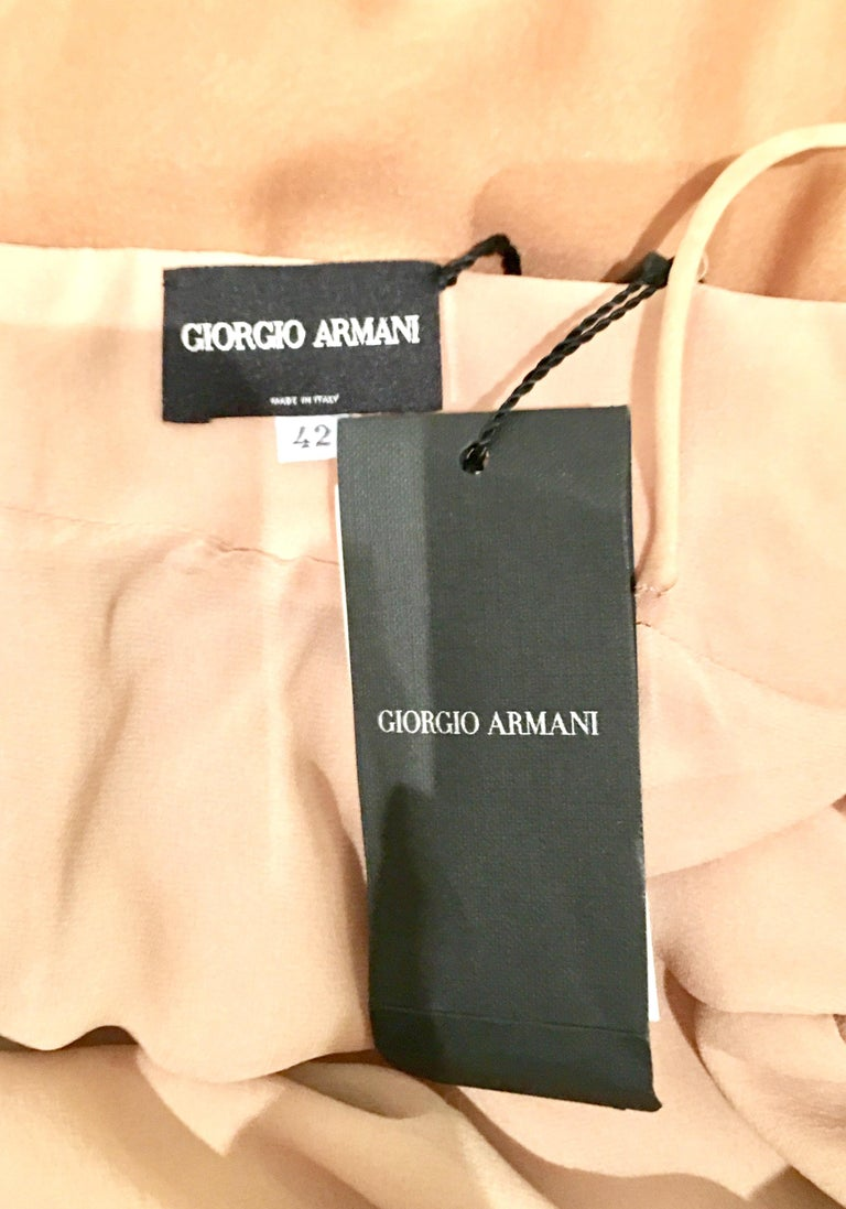 21st Century Italian Silk Chiffon Slip Dress By Girogio Armani - Size 42 For Sale 9